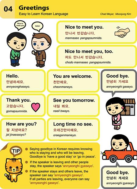 Easy Korean 004, Useful Greetings